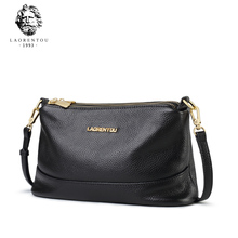 Old people's head, leather bag, lady's diagonal bag, new fashion, single shoulder, lady's soft skin, middle-aged mother, lady's bag