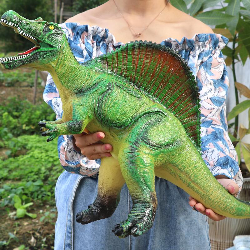 爆丸龙仿真软胶大号恐龙玩具霸王龙三角龙腕龙剑龙发声模型玩具限4000张券