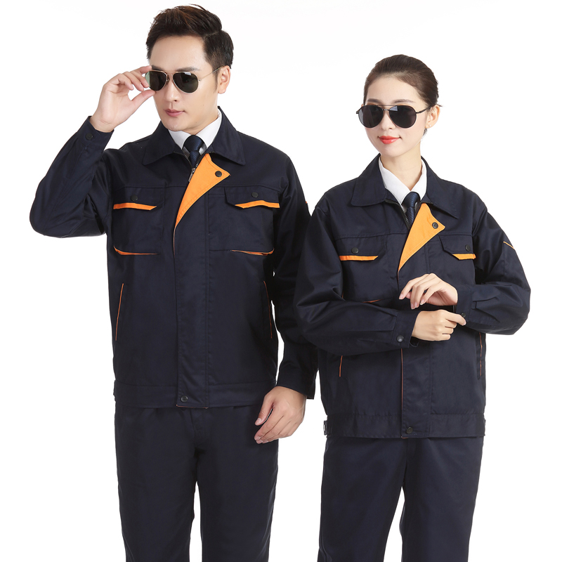 Factory uniform male Engineering Department labor protection hotel maintenance workshop long sleeve spring and autumn suit work clothes electrician