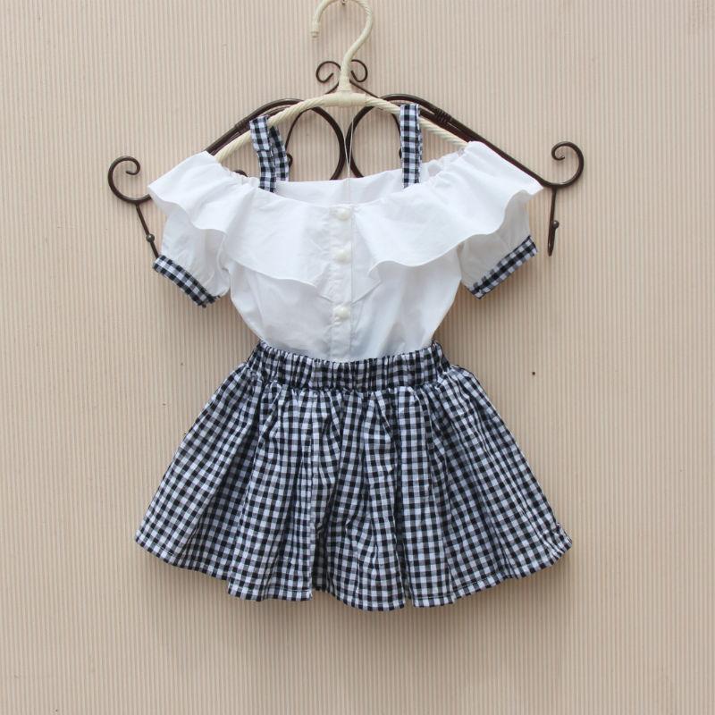 童装女童洋气套装裙夏装2021新款儿童半身裙宝宝裙子韩版学生套装