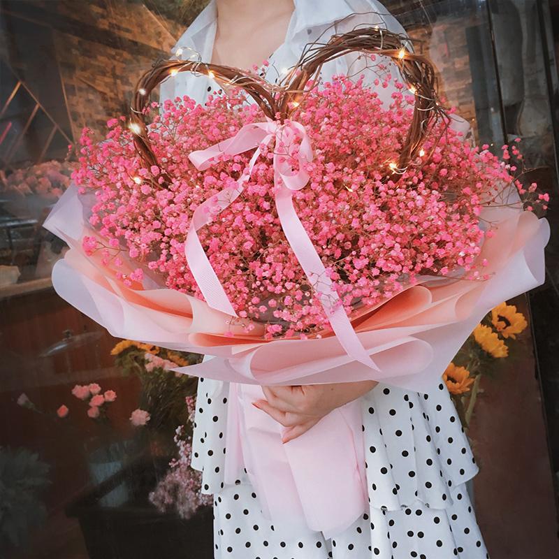 满197.50元可用118.5元优惠券干花束生日鲜花速递送女朋友满天星