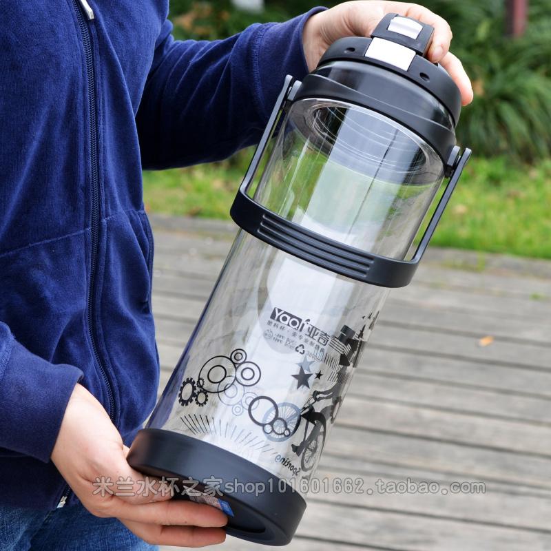 特大号水杯3000毫升杯子便携塑料工地男防爆户外茶杯3升2超大水壶