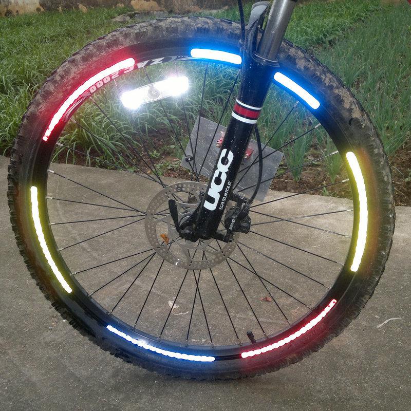 Велосипед наклейки неубирающиеся наклейки светоотражающие стикеры горный велосипед неубирающиеся круглый вставка-наклейка бумага верховая езда сильный диск