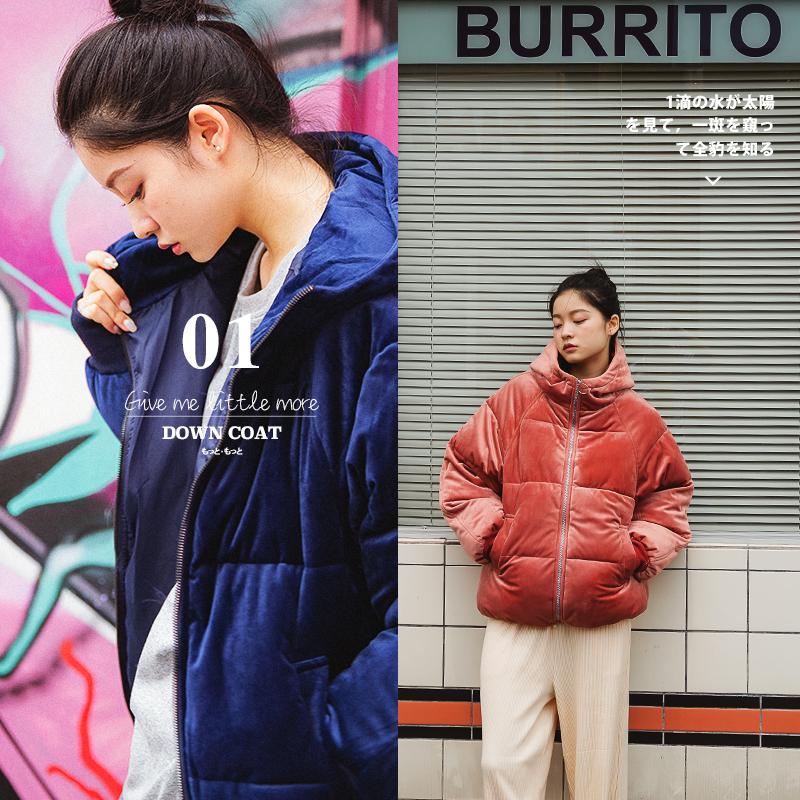 新款2018冬季韩版学生短款面包服chic学院风加厚宽松ins棉服bf女