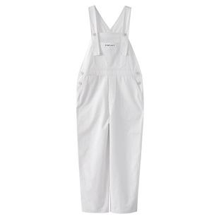 FFAN泛泛 休閒連體褲秋季新款寬鬆減齡高腰闊腿揹帶褲