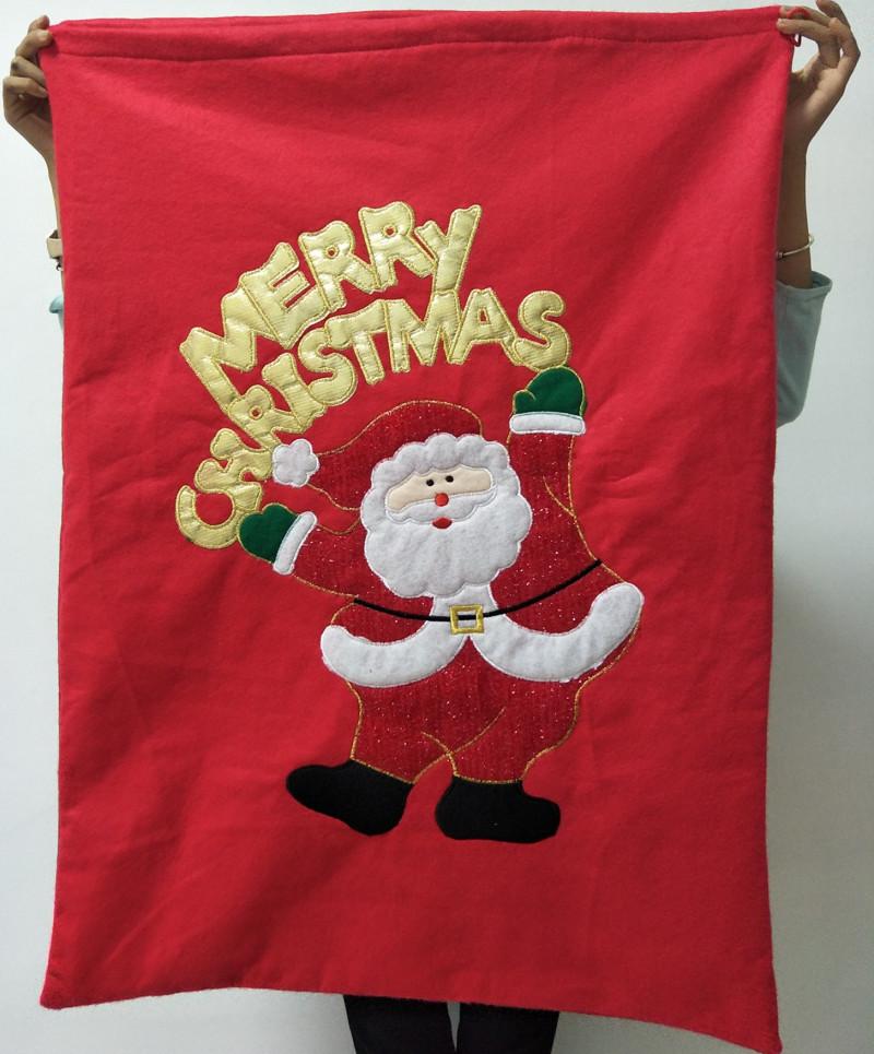 圣诞节装饰品圣诞礼物袋礼品袋子大号收口袋子束口袋老人背包背袋
