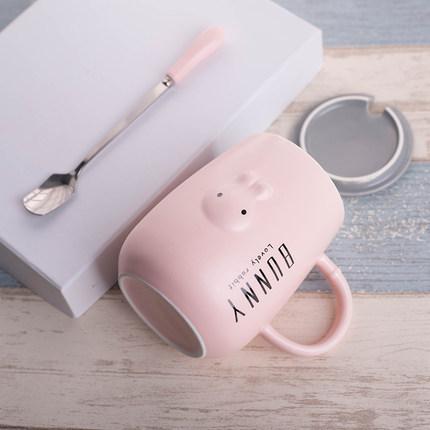 韩版创意超萌情侣陶瓷杯马克杯