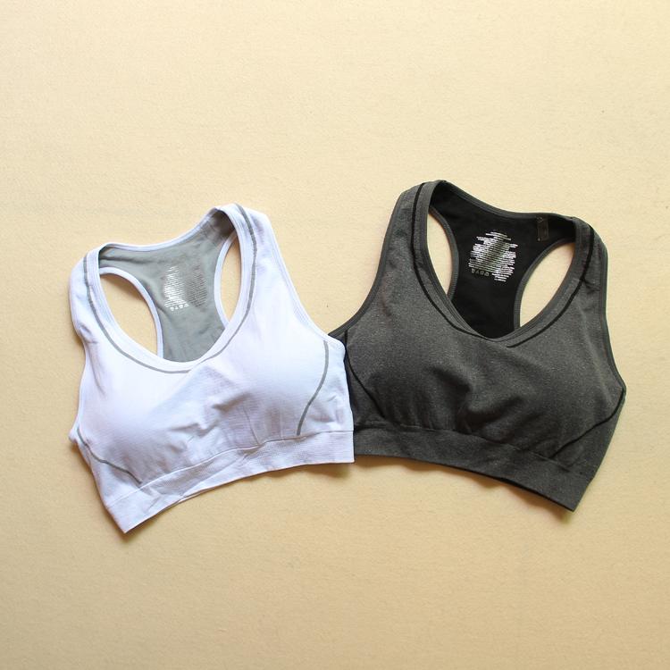 速干运动内衣跑步文胸减震瑜珈训练紧身透气秋胸垫无钢圈舒适排汗
