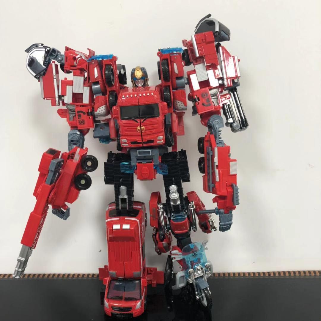 王者威将 变形玩具金刚 变形机器人合金版五合体模型火尊战将套装热销2件限时秒杀