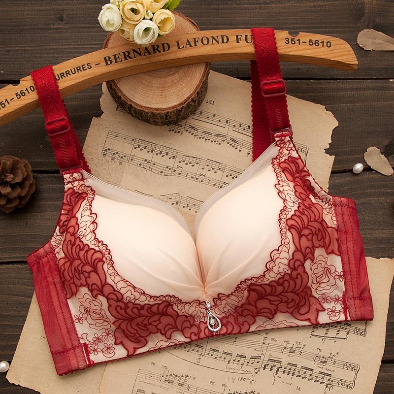 天天特价无钢圈都市女士内衣收副乳胸罩厚薄款超聚拢上托大码文胸