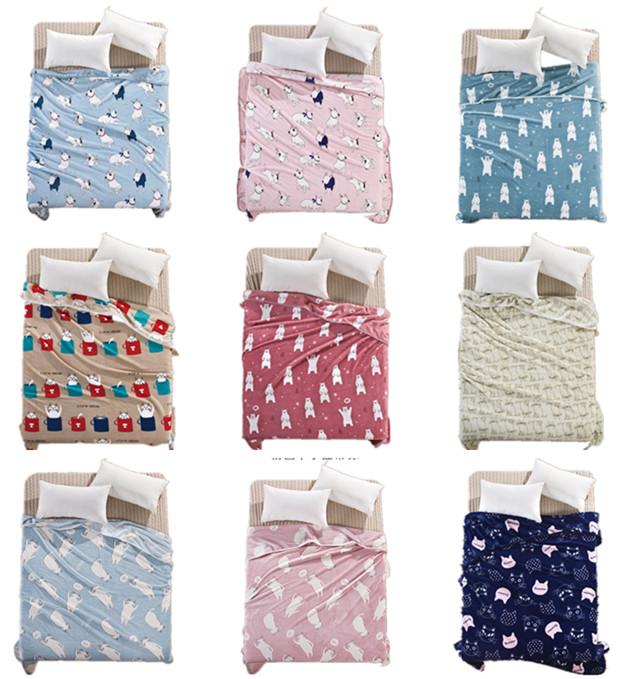 珊瑚绒宿舍毯子法兰绒单双人毛毯盖毯床单薄午睡空调毯夏季法莱绒