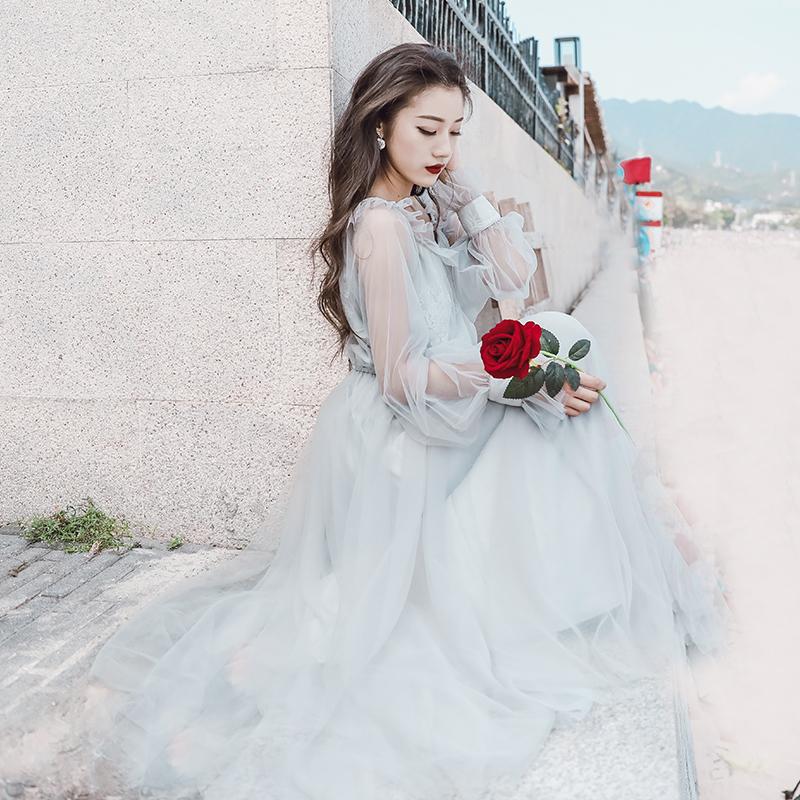 12月02日最新优惠chic温柔超仙梦幻仙气森系仙女裙