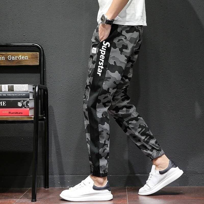 1004-k30-p30男韩版宽松束脚工装裤(非品牌)