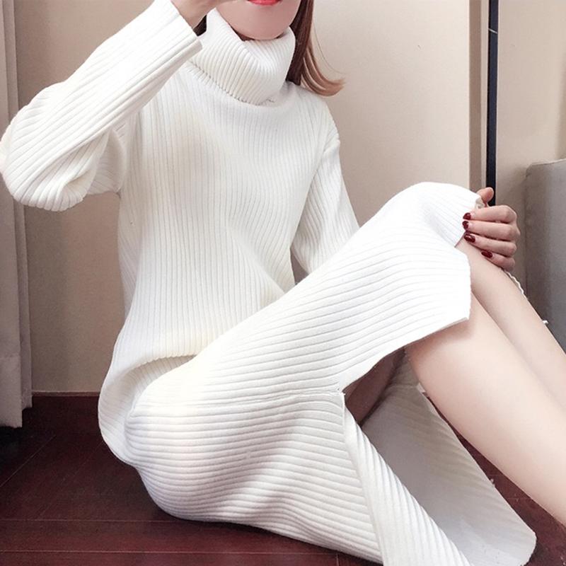 哺乳毛衣外出秋冬季针织衫加厚款连衣裙哺乳期潮妈高领产后喂奶衣