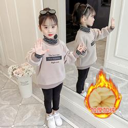 女童卫衣2020年秋季洋气加厚12中大童15岁儿童上衣加绒韩版潮ins