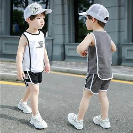 男宝宝帅气夏季套装1-7岁男童洋气