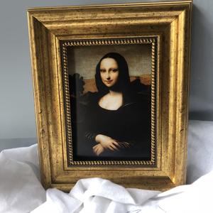 一张小画人气相框 蒙娜丽莎 梵高艺术家摆台油画家居饰品气质摆台