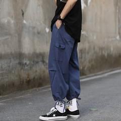 19/夏 男士宽松阔腿工装九分休闲裤男  七色入 K1908-P45