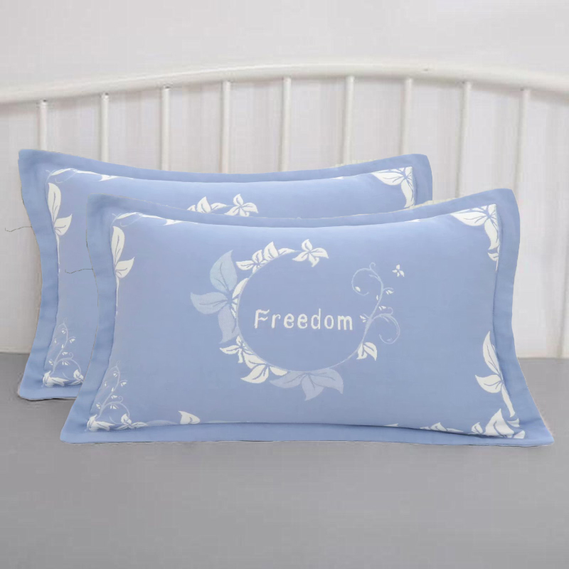 小枕套纯棉40X60儿童枕头套一对装全棉加厚纱布家用单人小号枕套