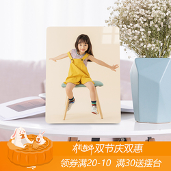 10寸婚纱照儿童宝宝韩版水晶相框定做合影洗照片加放大挂墙木版画