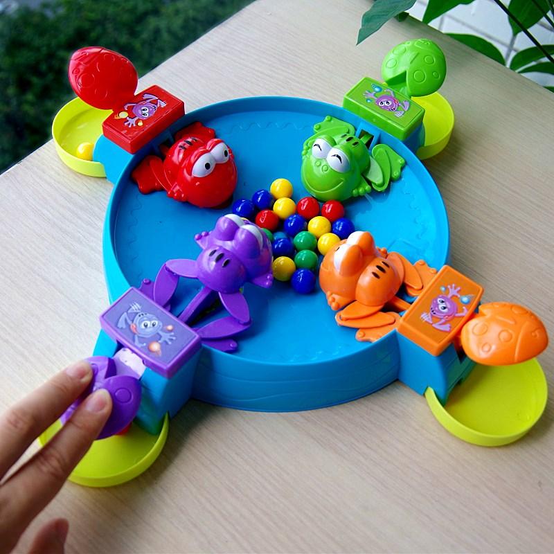 Встряска звук в этом же моделье жадный есть лягушка есть фасоль отцовство интерактивный рабочий стол игра ребенок головоломка игрушка 3-4-6 лет подарок
