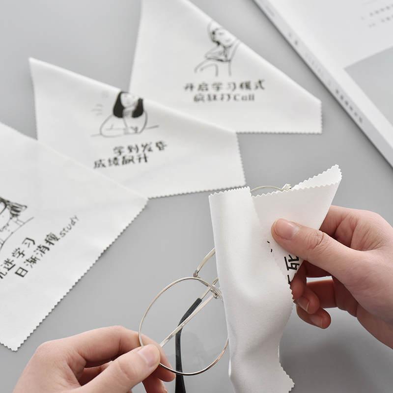 Творческое подделывание слово глаз зеркало Бу Сяоцин новый Портативный чистящий салфетку для мобильного телефона зеркало Deerskin Cashmere зеркало ткань