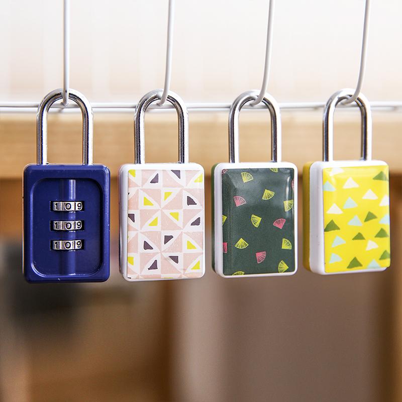 Япония и южная корея домой сумка моделирование мода эпоксидная смола пароль замок небольшой свежий багажник кража пакет запереть замок