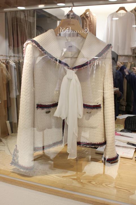2021 autumn and winter Navy collar versatile slim slim womens small fragrance short coat tassel tweed top straight tube