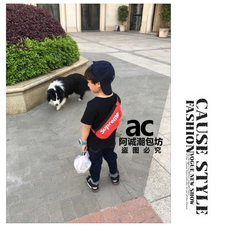 外贸儿童包包个性斜挎包原单男童小挎包宝宝腰包韩国时尚女童潮包