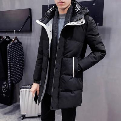 MY905-P215高端品质冬季男士中长款双层领连帽棉衣 100%聚酯纤维