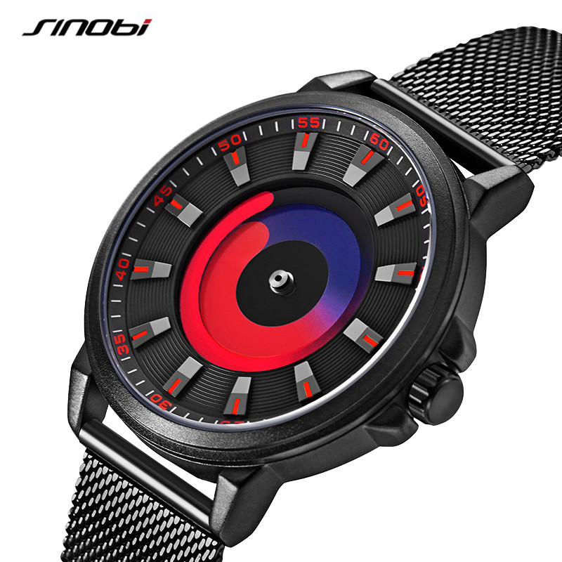 2020 nuobi non pointer concept mens watch trend fashion vortex creative watch male and female student couple Watch