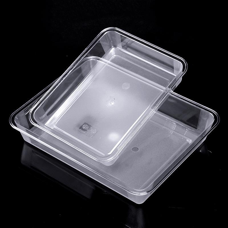 Acrylic transparent square plate rectangular tray cooked stewed vegetables cold dish ice bag dumpling plate plastic cold dish plate