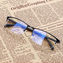 防蓝光眼镜男女商务电脑手机辐射护目镜半框平光无度数近视眼镜框