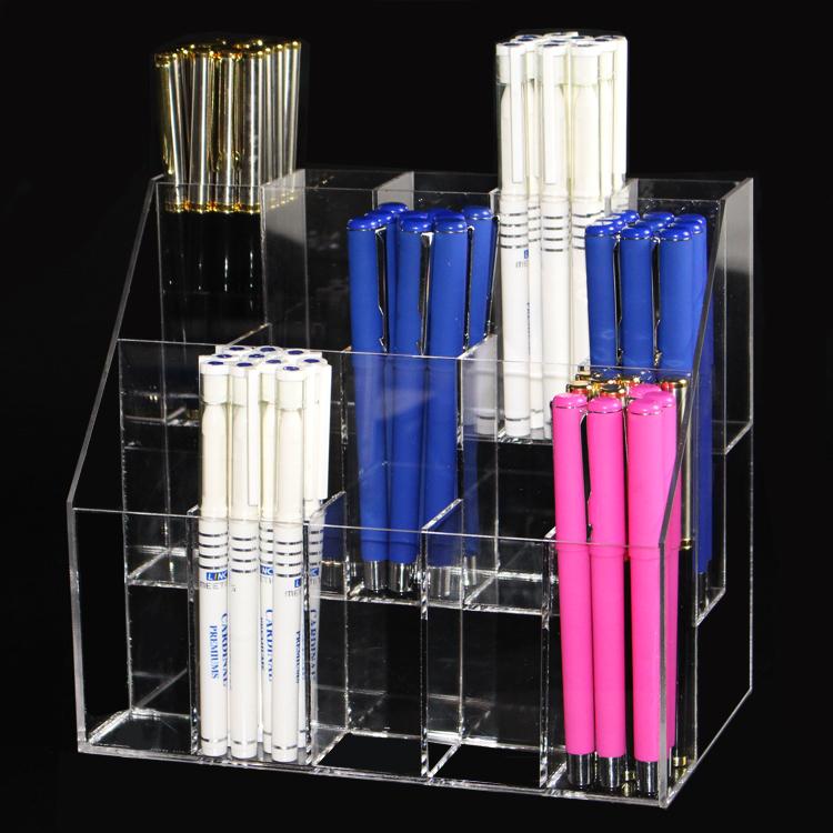 亚克力15格化妆品展示架笔架 口红架 饰品架 彩妆眉笔收纳架 包邮