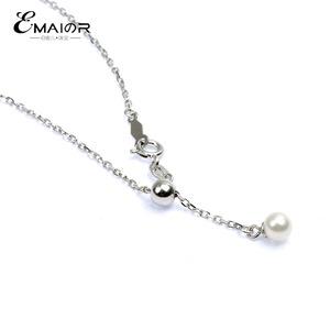 Y型可调节珍珠项链天然淡水珍珠链 黄金白金玫瑰金项链可调节