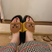 夏季休闲韩版帆布鞋牛仔布系带凉鞋拖无后跟拖鞋平底一字拖潮2019