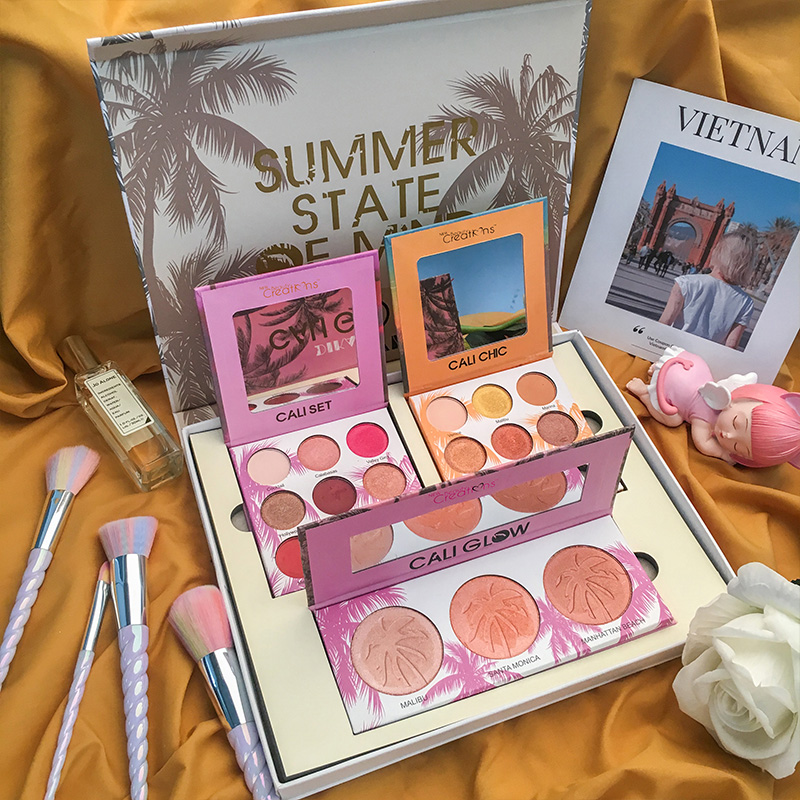 European and American Unicorn eye shadow sets three sets of girls, Roman holiday, earth color eye shadow Jiaqi recommended