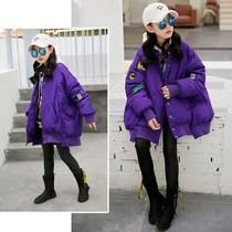 女童冬装棉服2019新款韩版洋气个性宽松保暖加厚女大童羽绒棉衣潮