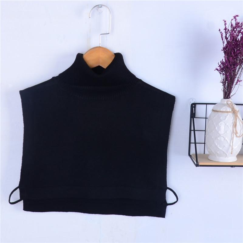 Wool high collar false collar warm knitted bottom coat collar winter sweater style mens and womens winter collar