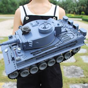 超大型儿童充电遥控坦克战车玩具汽车模型可发射子弹履带金属炮管