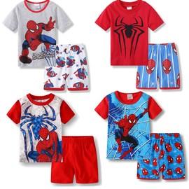 儿童短袖t恤套装6男孩2-3岁睡衣蜘蛛侠童装夏男宝宝家居服4-5男童图片