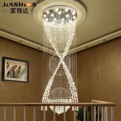 楼梯吊灯复式楼大吊灯现代简约别墅旋转楼梯间水晶灯楼梯灯长吊灯