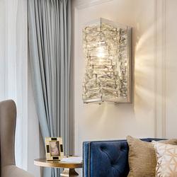 后现代水晶壁灯简约创意个性客厅墙壁卧室床头灯简欧过道灯具轻奢