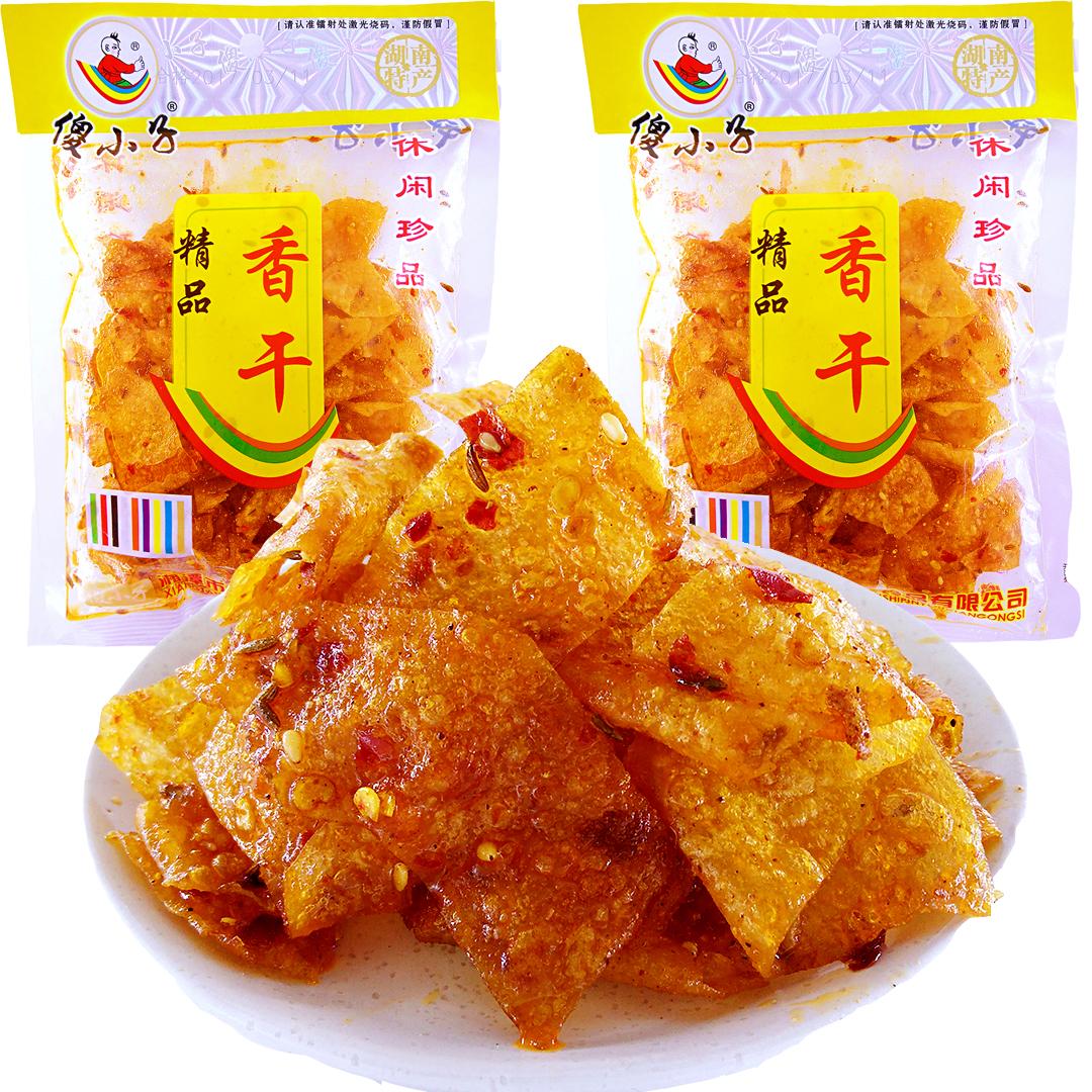 9月临期】傻小子精品豆干 香麻面筋辣条油豆腐皮素肉湖南特产零食