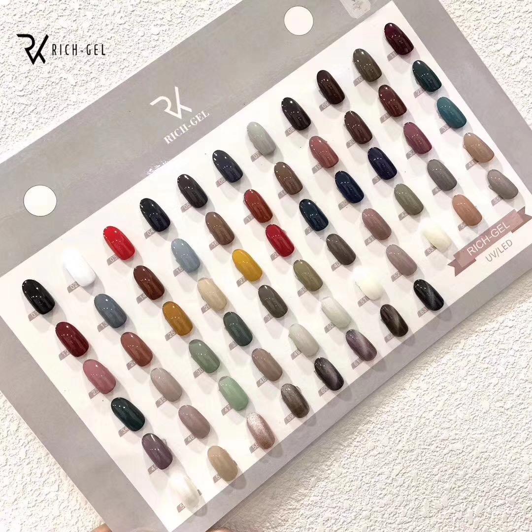 RICHGEL63色瓶装套装甲油胶透亮润泽耐磨日式高品质光疗胶指甲油