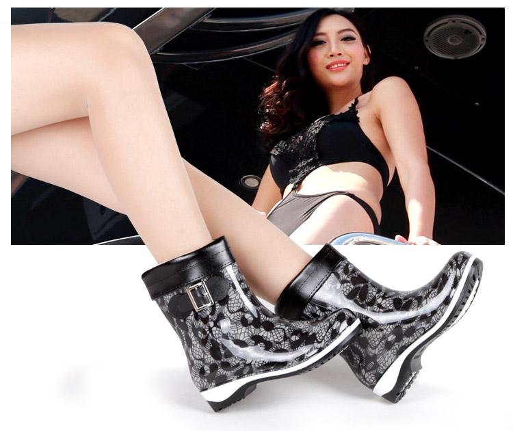 Chaussures en caoutchouc jeunesse, vieux 18-40 ans, , Moyen-âge, 40-60 ans,  élégant - Ref 931243 Image 5