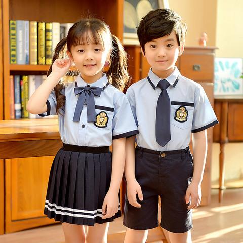 幼儿园园服套装男女童装夏季英伦学院风短袖韩版中小学生校服班服