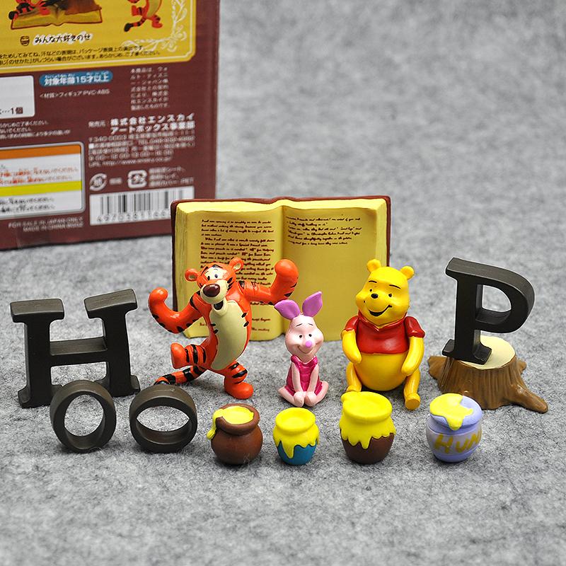 小熊维尼pooh跳跳虎伊尔驴叠叠乐玩具层层叠公仔摆件互动亲子道具