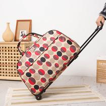 拉杆包行李包女手提大容量轻便折叠轻便短途登机旅游防水小旅行袋