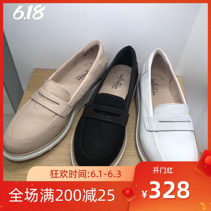 其乐名品新款真皮女鞋Sharon Ranch休闲松糕鞋单鞋26140646